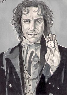 ACEO The Eighth Doctor Who PAUL MCGANN Original Black & White sketch by MDYE
