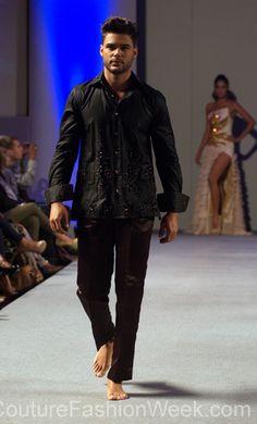 Ariel Cedeno Couture Fashion Week New York Spring 2013 #FashionWeek #Fashion #Couture #AndresAquino #Style #Men #Designer #Model #Black #Sequence