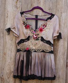 Vintage rose top fairytales-inspired bohemian romantic