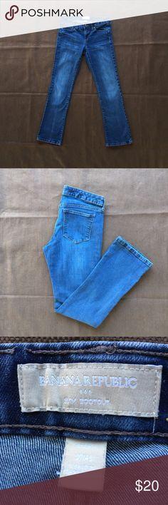 Bootcut jeans Banana Republic Factory Slim Boot jeans. Short Length. Darker Color. Banana Republic Jeans Boot Cut