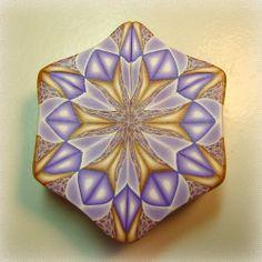 Purple & Gold Kaleidoscope Cane | Flickr - Photo Sharing!