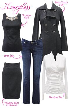 """Great set of ideas for hourglass figures - I will keep sharing """"pairings"""" to give you ladies ideas of what can mix and match!"""