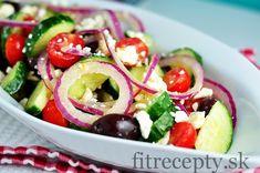 Frittata s tofu, cuketou a paradajkami Caprese Salad, Fruit Salad, Vegetable Salad, Salad Recipes, Potato Salad, Salads, Food And Drink, Low Carb, Homemade