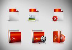 Icons by Sherif Ahmad, via Behance