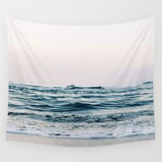 Ocean Photography Wall Hanging Tapestry by Lotus Print Studio - Small: x Society 6 Tapestry, Ocean Photography, Modern Wall Decor, Tapestry Wall Hanging, Ocean Waves, Outdoor Walls, Beautiful Beaches, Vivid Colors