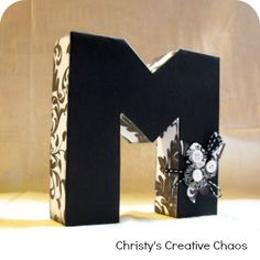 Mod Podge Projects - Love the Monogram