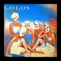 New wave all-girl sensation the Go-Go's debut album, Beauty and the Beat. Quality tunes, solid album all round. Nice idea for a cover.