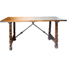 Excellent 17th Century Spanish Walnut Table Desk Console