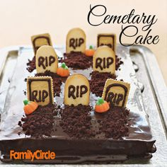 Try our Spooky Cemetery Cake! #halloween #fall #dessert