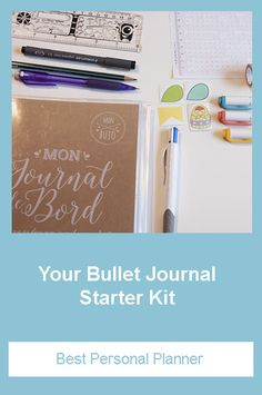 Your Bullet Journal Starter Kit - Best Personal Planner I share the Bullet Journal supplies I use everyday to plan and organize my day to achieve each one of my goals Bullet Journal Ruler, Bullet Journal Starter Kit, Bujo, Planning And Organizing, Holiday Mood, Stencil Designs, Bullet Journal Inspiration, Gel Pens, Getting Organized