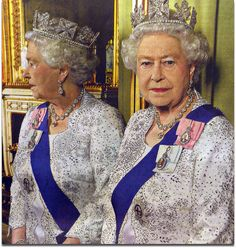 Diamond Jubilee: double portrait of HM Queen Elizabeth II