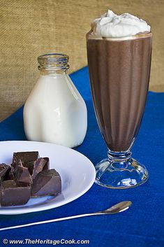 We have the Best Chocolate Malt Milkshakes today at The Heritage Cook!