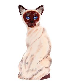 Look at this #zulilyfind! Theo Siamese Cat Vase #zulilyfinds