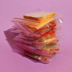 Lunch is served: Stacked Ziploc Sandwich  by @lazymomnyc #thisismold