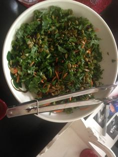 Pre-packaged Asian Kale Salad from Wall-Mart!  It really is pretty good!