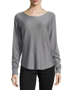 Long-Sleeve Knit Sweater, Cold Steel by Neiman Marcus at Neiman Marcus Last Call.