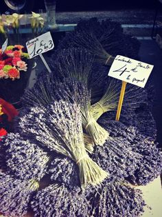 Fresh lavender from the Provence, France open air market.