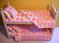 Stackable American Girl Doll Bunk Bed 8pc by Acraftersnook on Etsy, $85.96