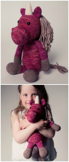 Baby Knitting Patterns Mermaid Sweet crocheted unicorn in your favorite color, gift idea for children / gi . Crochet Flower Scarf, Love Crochet, Crochet Gifts, Crochet Toys, Crochet Baby, Baby Knitting Patterns, Amigurumi Patterns, Crochet Patterns, Granny Square Häkelanleitung