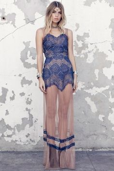 for love and lemons antigua maxi dress sapphire