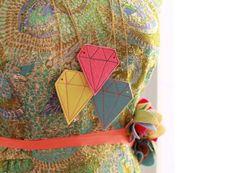 DIY Felt Gem Necklace from Confetti Studio