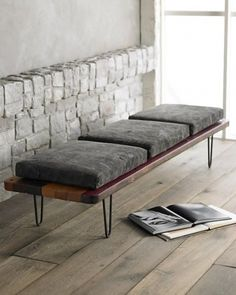 This bench is ultra cool and I would like to make a small version to put by the front door...Bench.