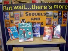 Sequel/Series display idea | This is amazing, and definitely a NEEDED display in the teen area! Is it just me or does it seem like 85% of teen books these days are series?  Could work for any age group! :)