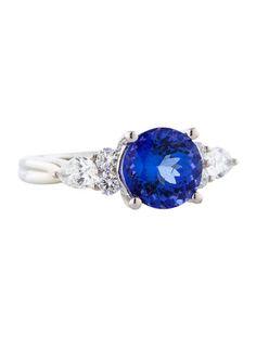 2.48ctw Tanzanite and Diamond Ring