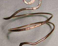 Copper Armlet, bangle, upper arm band, top arm cuff, adjustable armlet, above elbow bangle