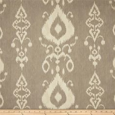 $7.68 Swavelle/Mill Creek Tullahoma Ikat Marble from @fabricdotcom  Screen printed on cotton duck, this versatile, medium weight fabric is perfect for window accents (draperies, valances, curtains and swags), accent pillows, bed skirts, duvet covers, slipcovers, upholstery and other home decor accents. Create handbags, tote bags, aprons and more. Colors include creamy tan and light grey.