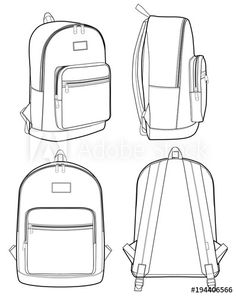 backpack drawing | bag sketches in 2019 | Backpack drawing ...