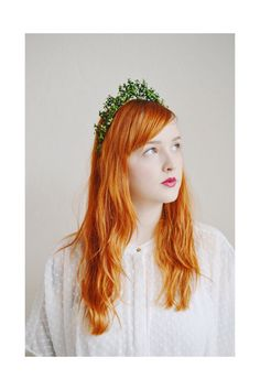 Antique Myrtle Paper Headband Woodland Bride  by PollyMcGeary