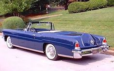 "57 Lincoln Continental | 57 Lincoln Continental Mk IV convertible... | feeling ""blue"""