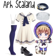 """Aph Sealand (hetalia)"" by isabel-kitty-marie on Polyvore"