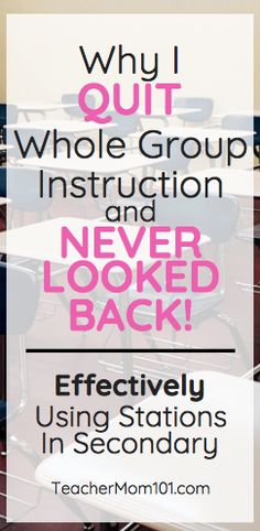 Why I QUIT Whole Group Instruction If something isnt working change it Immediately Teacher Mom 101 Co Teaching, Teaching Strategies, Teaching Secondary, Teaching Science, Science Activities, Science Experiments, Teaching Ideas, Instructional Strategies, Differentiated Instruction