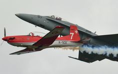 Slovak International Air Fest in 2015 160 km east of the capital Bratislava. During the airshow, the Swiss Air Force were represented by the patrol of the PC-7 TEAM on NCPC-7 and the Swiss F / A-18 Solo Display.