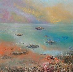 Many Islands - Acrylic and mixed media on canvas (box canvas)