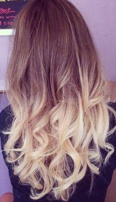 Light brown / blonde hair , dip die
