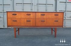 Mid Century Modern Teak Double Dresser I want!!!!