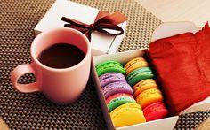 Bolos, biscoitos, sobremesa, colorido cores, café, presente Papéis de Parede - 2560x1600