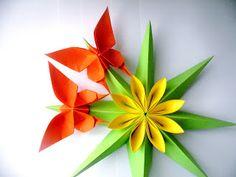 INTERFERENTE...artistice si diverse. : Oristar:Cum sa realizezi un minunat star decorativ de primavara !