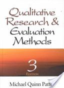 "Qualitative Research and Evaluation Methods.  This looks like a great book to add to the ""qualitative library.""  Michael Quinn Patton adds humor and human insight to the discussion, in Part 1, regarding qualitative inquiry and making methods decisions.  Exhibit 1.4, on p. 13, is a great tool - ""Some Guiding Questions and Options for Methods Decisions.""  This contrasts qualitative and quantitative methods choices. (568)"