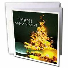 Yves Creations Pretty Christmas Tree - Pretty Christmas Tree Happy New Year in Gold With White Text - Greeting Cards-12 Greeting Cards with envelopes by Yves Creations. $15.95. Pretty Christmas Tree Happy New Year in Gold With White Text Greeting Card is measuring 5.5w x 5.5h. Greeting Cards are sold in sets of 6 or 12. Give these fun cards to your friends and family as gift cards, thank you notes, invitations or for any other occasion. Greeting Cards are blank inside and come wi...
