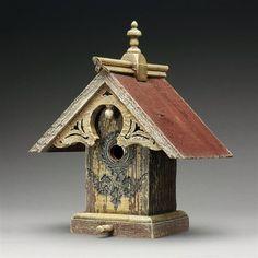 Griffith Creek Designs 1407 Heart & Eagle Queen Anne Birdhouse - Bird House Showroom