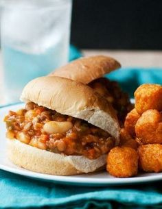 Lentil and White Bean Sloppy Joes