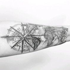 Para onde você quer viajar agora? Tatuagem feita pela @jaquelinesantoso #