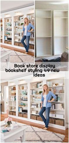Book store display bookshelf styling 49 new Ideas - ikea-billy-bookcase-hack Bookshelf Styling, Bookshelves, Ikea Billy Bookcase Hack, Book Storage, Display Ideas, Store, Home Decor, Bookcases, Decoration Home
