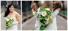 White, green and yellow wild flowers turned to an unique beautiful bouquet || Wedding Flowers