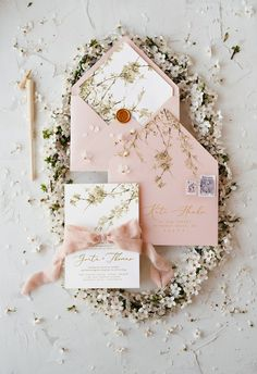 The best spring floral pastel wedding invitations - blog 4lovepolkadots