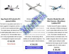There are many different types of electric model airplanes , gliders easy to drive, the training aircraft, to aircraft more difficult to fly like the birds of war and aerobatic aircraft. In all catagorie there are different levels of air and thus provide a wide range of electric model aircraft suitable for all types of budget.